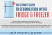 Guide to Storing Food in the Fridge and Freezer {infographic}